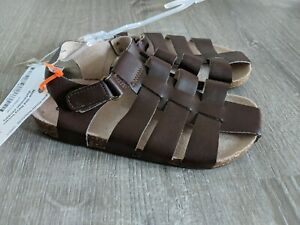 New Boy's Old Navy Toddler Fisherman Sandals Brown Size 11