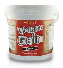 Nutrisport Weight Gain Mass Builder Muscle Growth Gainer 5kg - Chocolate 2 Tubs