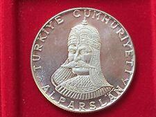 Turchia elli lira commemorativa 1971 battaglia di Malazgirt Alparslan argento