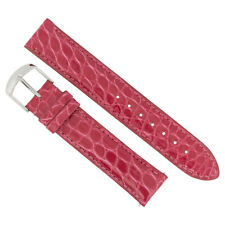 Hadley Roma Hot Pink 19 MM Alligator Leather Strap