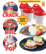 Egglettes Maker 6 Pack Egg Cooker - Hard Boiled Eggs without the Shell Eggies