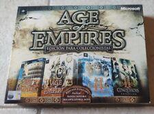 AGE OF EMPIRES EDICION PARA COLECCIONISTAS PC PAL/ESP Muy buen Estado. Completo