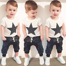 Toddler Baby Boys T-shirt Top Pants Trousers Outfit Set Summer Clothes Tracksuit