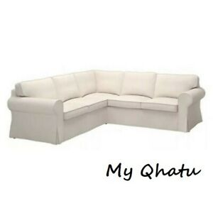 Ikea EKTORP 4 Seat Sectional Cover Lofallet Beige Corner 2+2 Sofa 403.216.88 New