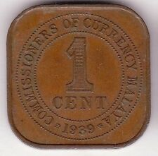 /Commissioners of Currency Malaya 1939 KG6 1c #CC44