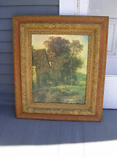 """CONSTABLE JOHN,""""THE MILLERS CHILDERN"""", """"ANTIQUE OAK PICTURE FRAME"""". AND PRINT"""
