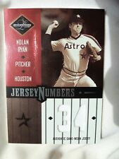 NOLAN RYAN 2003 LEAF LIMITED JERSEY NUMBERS GAME WORN Houston ASTROS /100