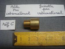 raccord en laiton mâle femelle (lot de 3)  pas standard 10 mm x 1 mm ( réf C )