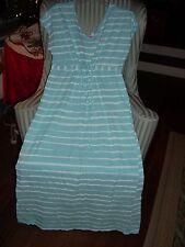FRESH PRODUCE MOONSHADE MAXI DRESS IN BRUSHED STRIPE PATTERN-SWIMMING POOL(M)