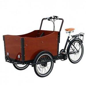 Electric cargo bike 250 watt box with seat belts 7 gear  - Fully Assembled
