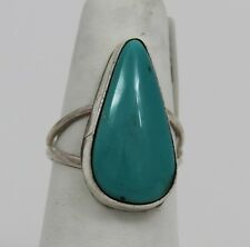 Navajo Indian Ring Kingman Turquoise Size 6-1/2 Sterling Silver Scott Skeets