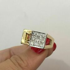 1.6 Ct Diamond 14K Yellow Gold Plated Men's Engagement & Wedding Expensive Ring