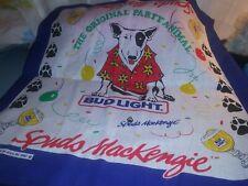 New listing Vtg Bud Light Beer Spuds MacKenzie Bandanna 80's Original Party Animal scarf