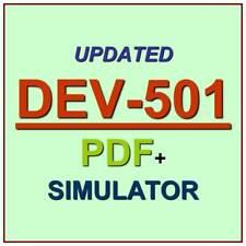Salesforce Apex & Visualforce Controllers Practice Test DEV-501 Exam QA PDF+SIM