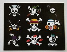 One Piece Pirate Flags Sticker Photo Paper Japanese Anime