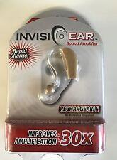 Invisi Ear Hörgerät Hörhilfe Hörverstärker mit integriertem Akku und Ladestation