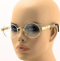 Men's WomenVINTAGE RETRO 60's LENNON Style Clear Lens EYE GLASSES Gold Frame