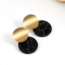 Boho Geometric Acrylic Statement Earrings Fashion Hoop Metal Dangle Women Summer