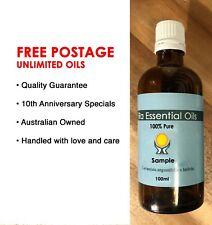 LEMON MYRTLE Essential Oil 100ml 100% PURE •FREE POSTAGE• Aromatherapy GRADE• RA