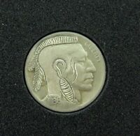 ".VERY NICELY DONE, HOBO NICKEL 1936 D ""MOHAWK INDIAN"" UNSIGNED. #12"
