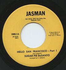 Rare Soul 45 - Sugar Pie DeSanto - Hello San Francisco - Jasman # 4