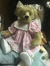 "Vintage ""Sue Coe"" Ganz Mohair Bear ""Cottage Collecibles"""
