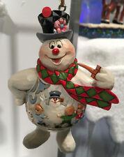 Enesco Jim Shore Frosty The Snowman Frosty with Kids Scene Orn Nib Item 6001586