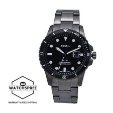 Fossil Men's FB-01 Three Hand Date Smoke Stainless Steel Watch FS5655