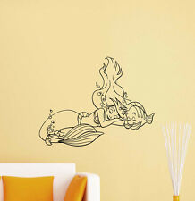Little Mermaid Wall Decal Ariel Flounder Disney Vinyl Sticker Poster Decor 435
