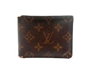 Authentic LOUIS VUITTON Monogram Wallet Bi-fold Browns Vintage