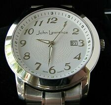 SWISS QUARTZ SAPPHIRE CRYSTAL DATE WATCH BY JOHN LAWRENCE