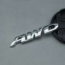 Glossy Metal Silver AWD letters Off Road Car Trunk Emblem All Wheel Drive Badge