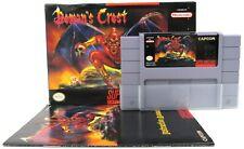 Super Nintendo SNES Capcom Demons Crest 1994 - Complete W/ Reg Card - Tested CIB