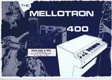 ORIGINAL Vintage 1960s Mellotron 400 Catalog w/ music store label
