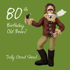 80th Birthday Male Greeting Card One Lump or Two Range Holy Mackerel Cards