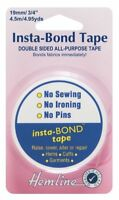 Hemline Insta Bond Tape Double Sided Tape Hems Fabric Clothing Repairs H782