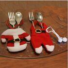 Happy Père Noël Vaisselle Argenterie Noël Fourchette Dîner Fête Décorations
