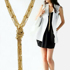Tassel Long Multilayer Sweater Chain Gold Chain Necklace Big jewelry