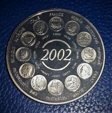 "MEDAILLE EUROPA 2002 : ""Naissance de l'Euro fiduciaire"""