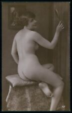 French nude woman original c1910-1920s Gelatin silver real photo postcard a01