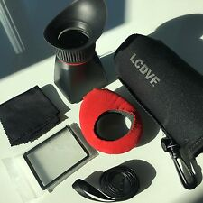 "Kinotehnik LCDVFD 3"" LCD Viewfinder for Select Canon, Nikon, Pentax, Samsung"