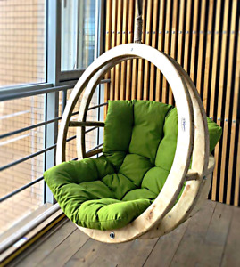 Hanging chair, armchair, chair cocoon, rocking chair, wooden armchair.