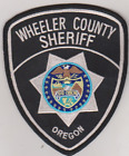 Wheeler County OR Sheriff patch