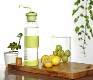 Transparent Water Bottle Made Of Borosilicate Glass (500Ml)With Steel Finish Cap