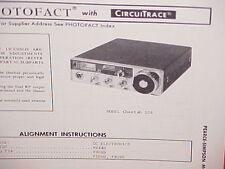 1973 PEARCE-SIMPSON CB RADIO SERVICE SHOP MANUAL MODEL CHEETAH SSB