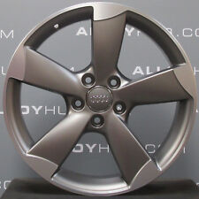 "GENUINE AUDI A3/S3 8P ROTOR ARM 5 SPOKE GREY/CUT 18"" INCH SET OF ALLOY WHEELS X4"