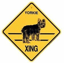 Yorkie Xing Sign Dog Crossing New Yorkshire Terrier