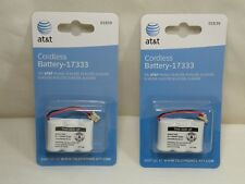 Two Genuine AT&T BT-17333, 27333 CS5121 Phone Rechargeable Battery 3.6V, 400mAh