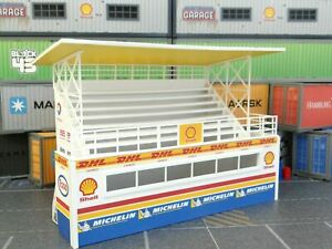 Diorama Parts Rally Grandstand Bench 1:43 Public Gallery Race Track Podium