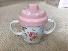 Cath Kidston Melamine Tippy / Sippy Cup Beaker - Pink Flowers Birds